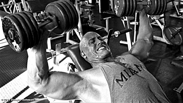 The rock weightlifting