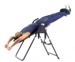 Inversion table back pain