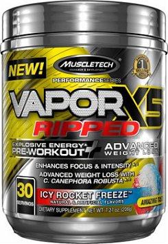 Vapor X5 Ripped Pre Workout Fat Burner by Muscletech