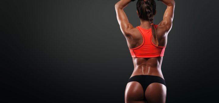 Fitness model butt